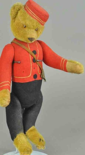 Schuco Baers Bell hop bear with patented head movement, Schuco jointed go