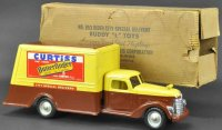 Buddy L Tin-Trucks Boxed Curtiss delivery truck, pressed...