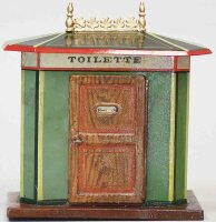 Maerklin Railway-Toilets Toilette hand painted, very...
