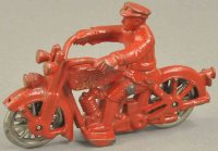 Hubley Cast-Iron-Motorcycles Harley Davidson motorcycle,...