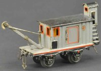 Bing Railway-Freight Wagons Tool car #14473 with four...