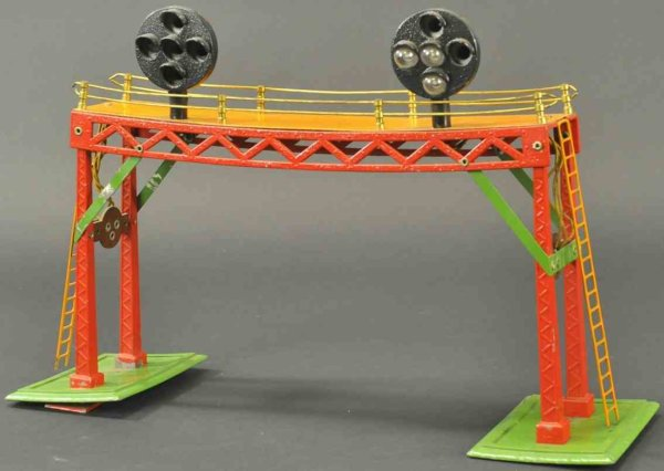 Dorfan Railway-Gangways Signal bridge, scarce accessory example, features two positi