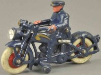 Hubley Cast-Iron-Motorcycles Cycle with headlight, cast...