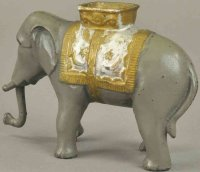 Williams AC Cast-Iron-Mechanical Banks Elephant with...