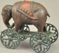 Unknown Cast-Iron-Mechanical Banks Jumbo on wheels...