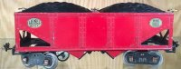 Lionel Railway-Freight Wagons Hopper car in red, coal...