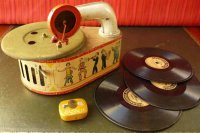 GAMA Tin-Toys Tin wind-up jazz band gramophone