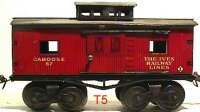 Ives Railway-Freight Wagons Caboose with eight wheels,...