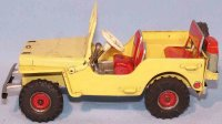 Arnold Tin-Jeep Jeep 2700 tin lithographed in yellow,...