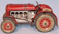 Levy George (Gely) Tin-Tugs/Rollers Tractor made of tin,...