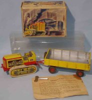 Arnold Tin-Tugs/Rollers Crawler Tractor with trailer made...