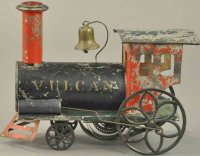 Ives Railway-Floor Train Vulcan locomotive, hand painted...