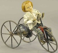 Stevens & Brown Tin-Figures Girl on velocipede, early...