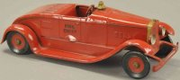 Kingsbury toys Tin-Fire-Truck Fire chief car, pressed...