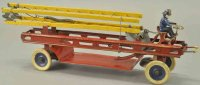 Kingsbury toys Tin-Fire-Truck Fire ladder truck, pressed...
