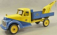 Buddy L Tin-Trucks Factory prototype wrecking truck,...