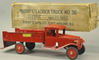 Buddy L Tin-Trucks Ladder truck No. 36, made of pressed...