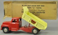 Buddy L Tin-Trucks Heavy hauling dump truck No. 5461,...