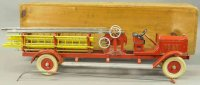 Kingsbury toys Tin-Fire-Truck Aerial ladder truck No....