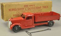 Buddy L Tin-Trucks Saddle dump truck No. W60 of pressed...
