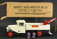 Buddy L Tin-Trucks Wrecking truck, electric lights,...