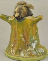 Rouillet & Decamps Tin-Automata Fur coverd bear in stump...