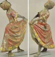 Unknown Tin-Figures Woman dancing, made in Germany, hand...