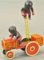 Marx Tin-Other-Vehicles Funny fire fighters, lithographed...