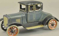 Bing Tin-Oldtimer Coupe scarce blue body version, spoke...