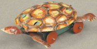 Meier Tin-Penny Toy Turtle, lithographed tin, brown and...