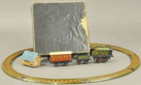 PAYA Tin-Penny Toy Train set with track and boy,...