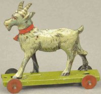 Meier Tin-Penny Toy Billy goat, lithographed tin,...