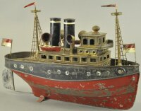 Heller & Coudray Tin-Ships Tugboat, very rare example,...