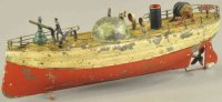 Carette Tin-Ships Early fire boat, very desirable...