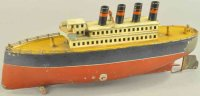 Carette Tin-Ships Four stack ocean liner, nicely scaled...
