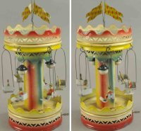 Bing Tin-Carousels Musical carousel, hand painted,...