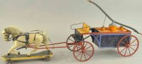 Bing Tin-Carriages Horse drawn hand pumper, hand painted...