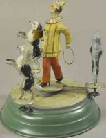 Guenthermann Tin-Clowns Clown with performing poodles on...