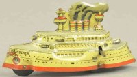 Fischer Georg Tin-Penny Toy Battleship THUNDERER,...