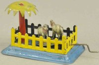 Fischer Georg Tin-Penny Toy Two sheeps in pen, embossed...