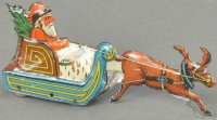 Unknown Tin-Penny Toy Santa in sleigh, extremely rare...