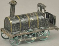 Rossignol Tin-Penny Toy Early tall stack locomotive,...