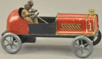 Unknown Tin-Race-Cars Gordon Bennett racer, a rare small...