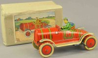 Kuramochi Tin-Race-Cars Race car with box, opportune...