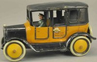 Bub Tin-Oldtimer Yellow taxi, lithographed tin, done in...