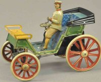 Issmayer Tin-Oldtimer Early open tourer, lithographed...