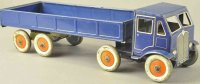 Mettoy Tin-Trucks Clockwork flat bed truck, navy blue...