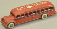 Arcade Cast-Iron buses Great Eastern bus variation, cast...