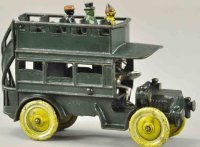 Kenton Hardware Co Cast-Iron buses Early double deckber...