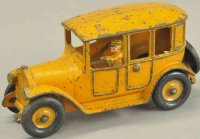 Hubley Cast-Iron Oldtimer Taxi cab, cast iron, painted in...